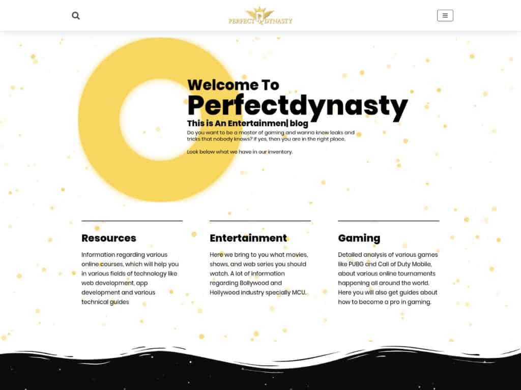design idea for a blog