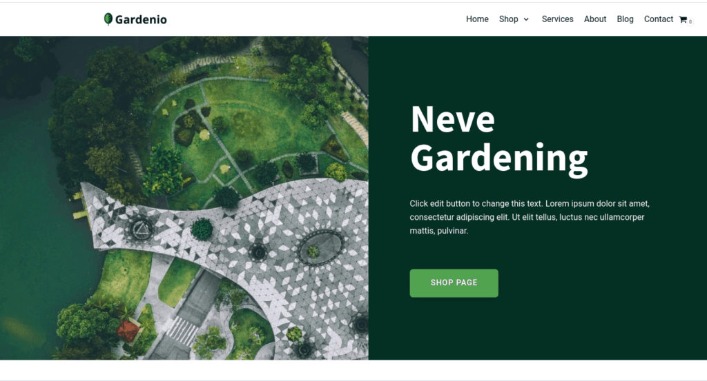 website design idea for gardening business