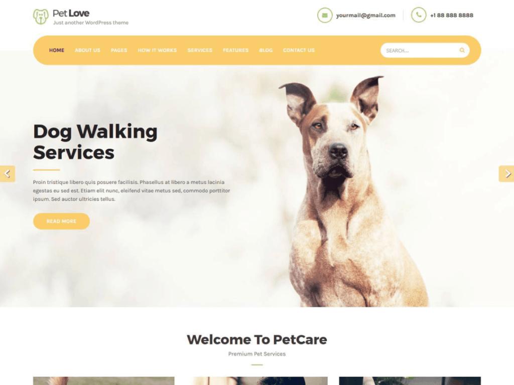 website idea for pet services